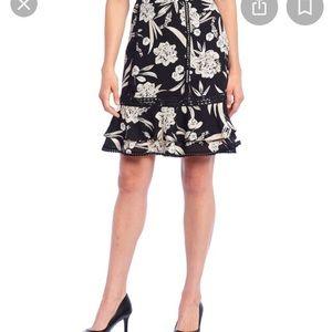2 pc set Karl Lagerfeld Blouse & Skirt Floral